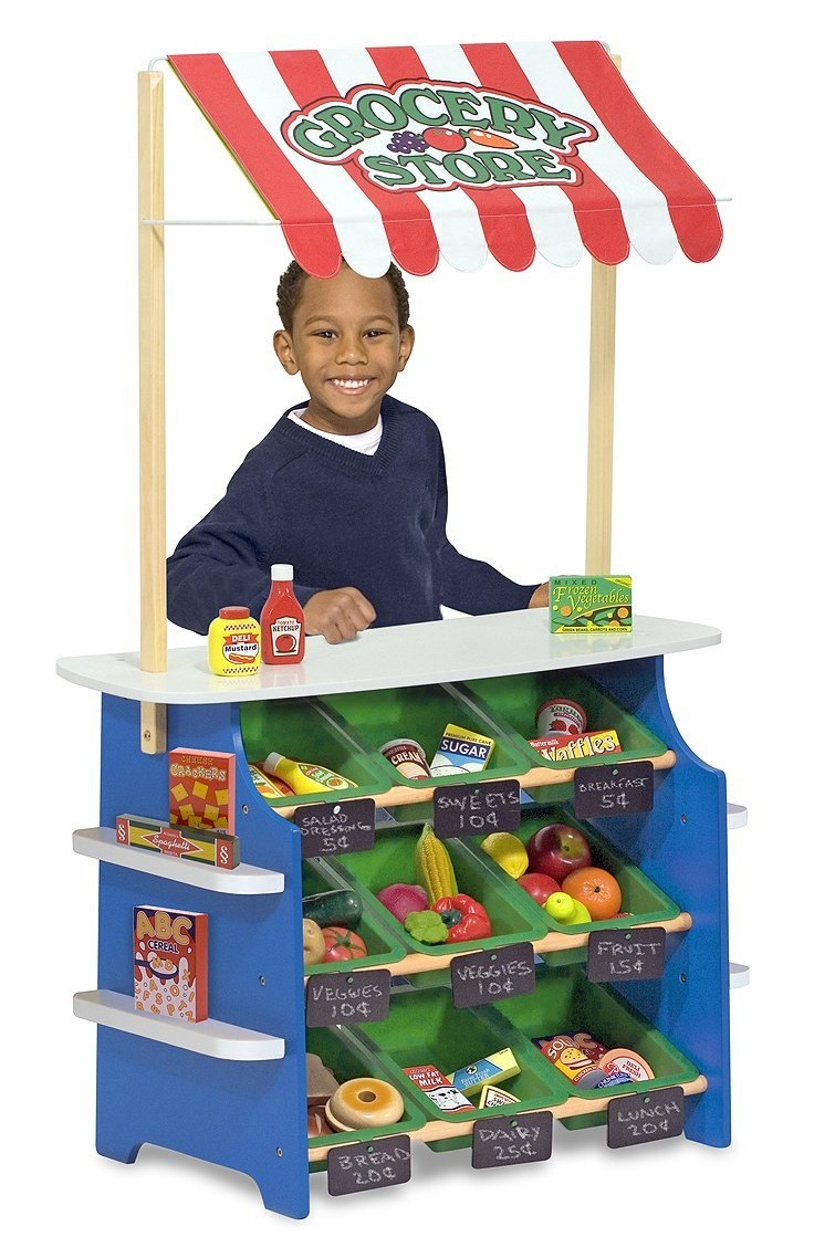Pretend Grocery Store Wooden Amp Plastic Playsets