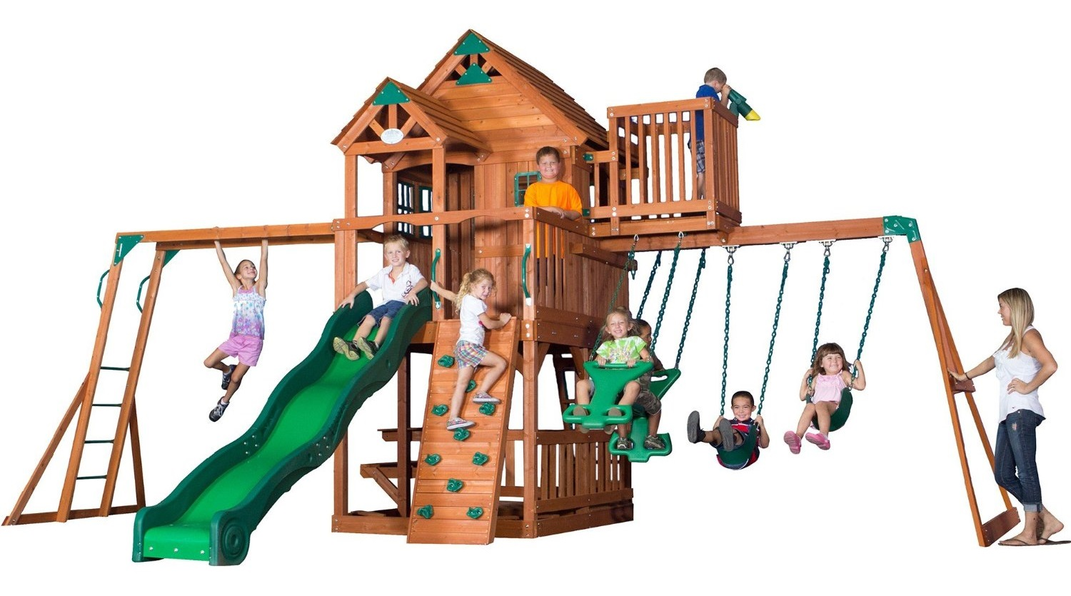 Backyard Discovery Skyfort Ii Cedar Swing Set Review